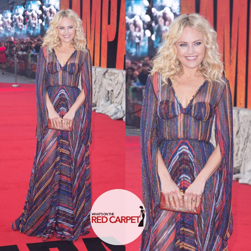 Malin Akerman rampage premiere gucci fashion red carpet London Missoni