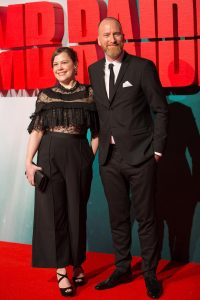 Ingird and Roar Uthaug wife Tomb Raider European Premiere London
