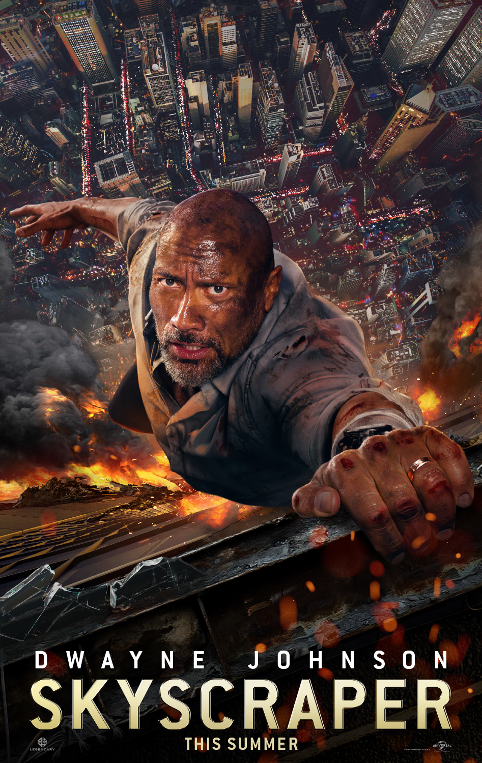 Skyscraper Dwayne Johnson Official Movie Poster