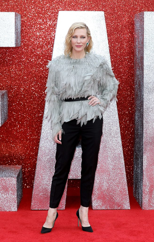 Cate Blanchett wears Louis Vuitton Resort 2019 to Ocean's 8 premiere in London