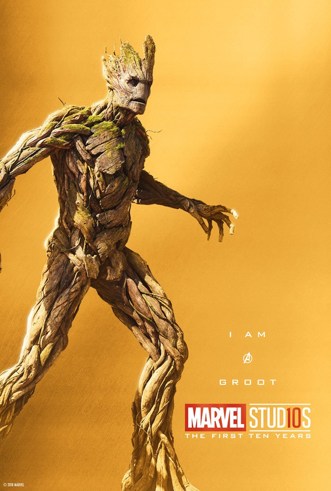 Marvel's More Than a Hero Poster Series to Celebrate 10th Anniversary of MCU - Groot
