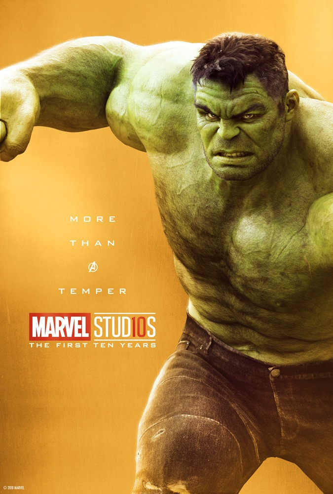 Marvel's More Than a Hero Poster Series to Celebrate 10th Anniversary of MCU - Hulk