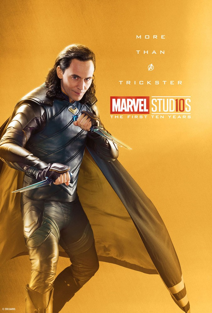 Marvel's More Than a Hero Poster Series to Celebrate 10th Anniversary of MCU - Loki
