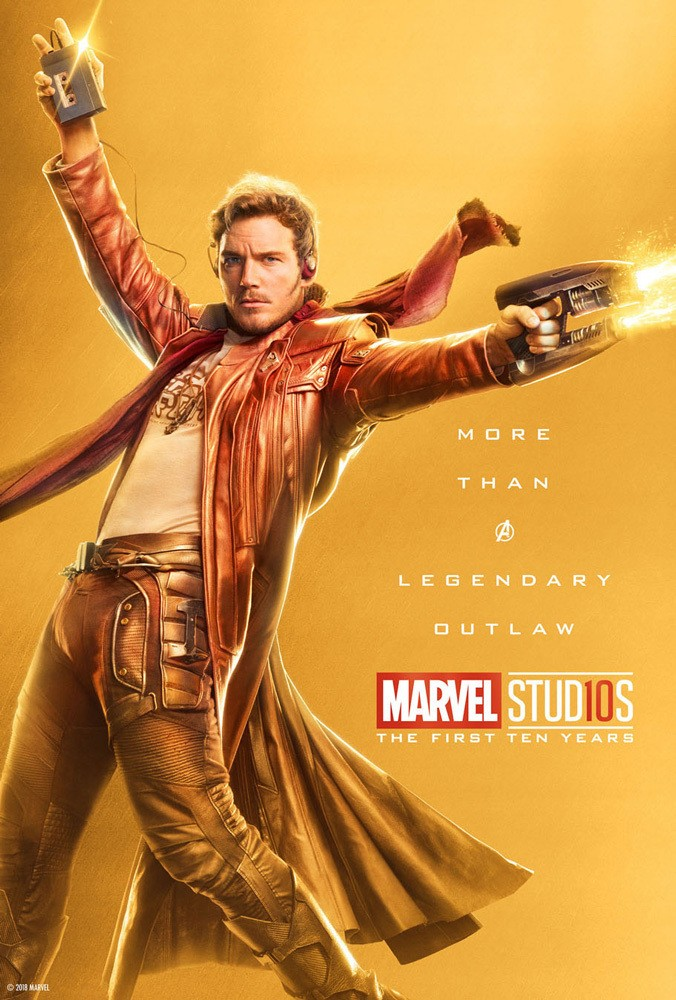 Marvel's More Than a Hero Poster Series to Celebrate 10th Anniversary of MCU - Star Lord