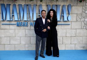 Andy Garcia and Cher attend the UK premiere of Mamma Mia: Here We Go Again held at Hammersmith Apollo, London.
