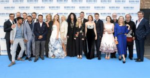 Cast of Mamma Mia: Here We Go Again at the UK premiere held at Hammersmith Apollo in London.
