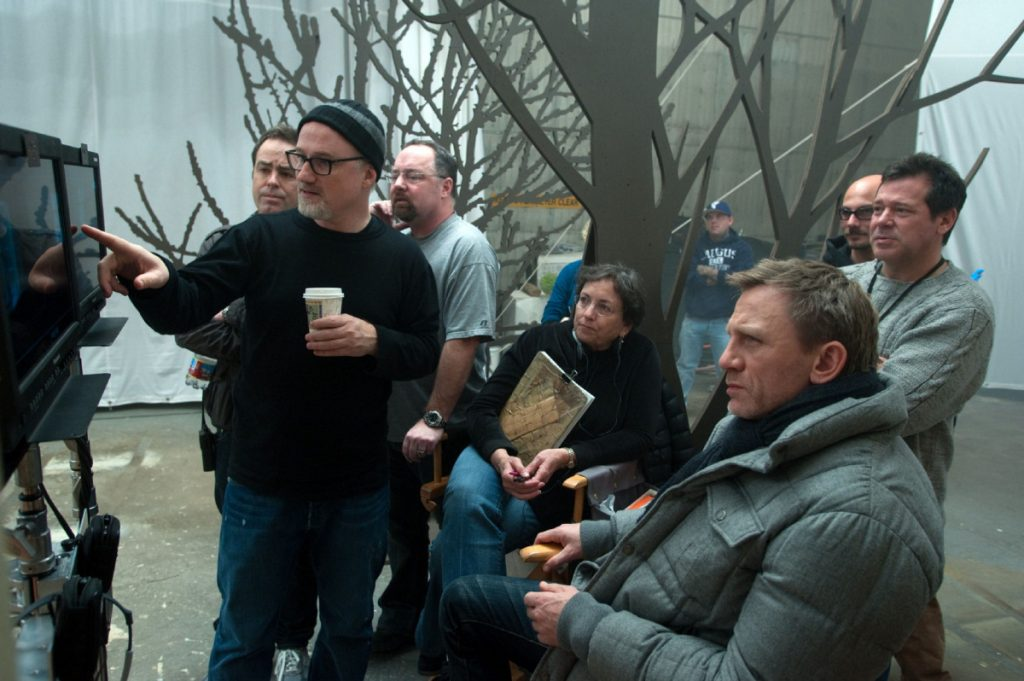 David Fincher on set of The Girl with the Dragon Tattoo