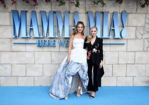 Lily James and Amanda Seyfried attend the UK premiere of Mamma Mia: Here We Go Again held at Hammersmith Apollo, London.