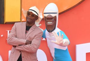 Samuel L. JAckson and Frozone Incredibles 2 UK Premiere London Arrivals