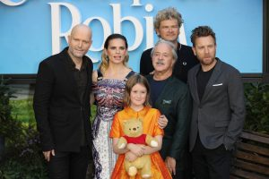 Cast and director Christopher Robin London Premiere