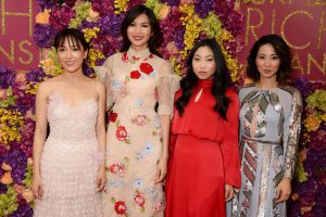 Constance Wu, Gemma Chan, Awkwafina and Jing Lusi Crazy Rich Asians London Screening