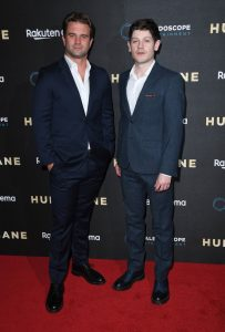 Milo Gibson and Iwan Rheon Hurricane UK Premiere
