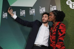 Amir Khoury and Simona Brown The Little Drummer Girl World Premiere 62nd BFI London Film Festival