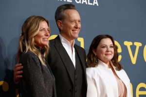 Amy Nauiokas, Richard E. Grant and Melissa McCarthy attend the UK premiere of Can You Ever Forgive Me? during the 62nd BFI London Film Festival.