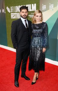 Andrew Levitas and Katherine Jenkins The White Crow premiere during 62nd BFI London Film Festival