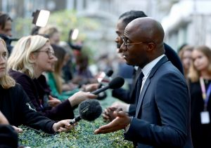 Barry Jenkins attends the premiere of If Beale Street Could Talk during 62nd BFI London Film Festival