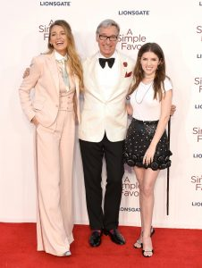 Blake Lively, Paul Feig and Anna Kendrick A Simple Favour UK Premiere London