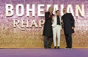 Brian May, Rami Malek and Roger Taylor attend the world premiere of Bohemian Rhapsody at SSE Wembley Arena in London.