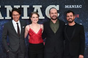 Cary Fukunaga, Emma Stone, Patrick Somerville and Justin Theroux Netflix's Maniac World Premiere London