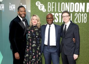 Colman Domingo, Tricia Tuttle, Barry Jenkins and Nicholas Britell attend the premiere of If Beale Street Could Talk during 62nd BFI London Film Festival