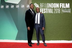 Colman Domingo and Barry Jenkins attend the premiere of If Beale Street Could Talk during 62nd BFI London Film Festival