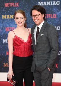 Emma Stone and Cary Fukunaga Netflix's Maniac World Premiere London