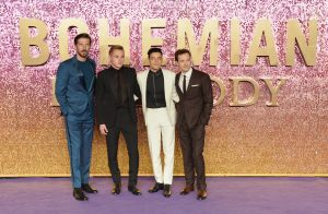 Gwilym Lee, Ben Hardy, Rami Malek and Joe Mazzello attend the world premiere of Bohemian Rhapsody at SSE Wembley Arena in London.