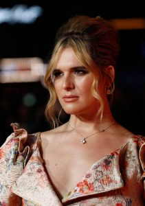 Hari Nef attends the European premiere of Assassination Nation during 62nd BFI London Film Festival