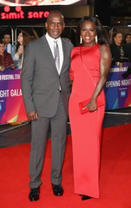 Julius Tennon and Viola Davis attend the European premiere of 'Widows' during the 62nd BFI London Film Festival 2018