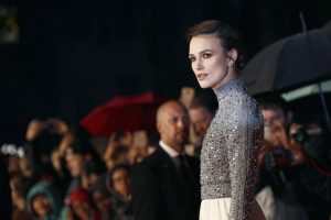 Keira Knightley attends the UK premiere of Colette during the 62nd BFI London Film Festival in London.