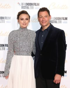 Keira Knightley and Dominic West attend the UK premiere of Colette during the 62nd BFI London Film Festival in London.
