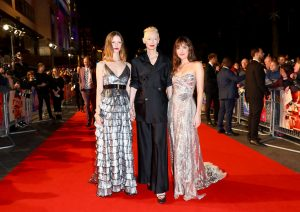 Mia Goth, Tilda Swinton and Dakota Johnson Suspiria UK premiere 62nd BFI London Film Festival
