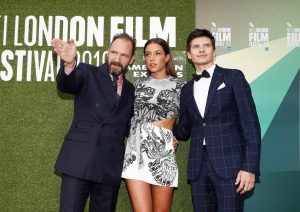 Ralph Fiennes, Adele Exarchopoulos and Oleg Ivenko The White Crow premiere during 62nd BFI London Film Festival