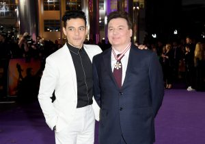 Rami Malek and Mike Myers attend the world premiere of Bohemian Rhapsody at SSE Wembley Arena in London.
