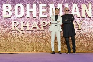 Rami Malek and Roger Taylor attend the world premiere of Bohemian Rhapsody at SSE Wembley Arena in London.