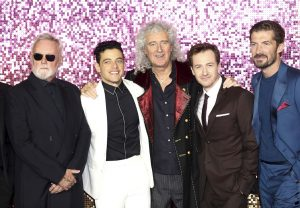 Roger Taylor, Rami Malek, Brian May, Joe Mazzello and Gwilym Lee attend the world premiere of Bohemian Rhapsody at SSE Wembley Arena in London.