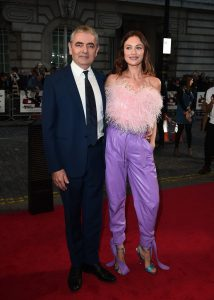 Rowan Atkinson and Olga Kurylenko attends the special screening of Johnny English Strikes Again in London