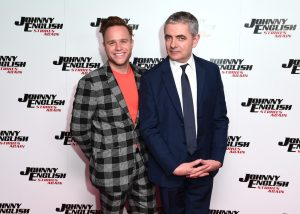 Rowan Atkinson and Olly Murs attends the special screening of Johnny English Strikes Again in London