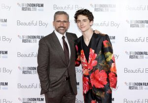 Steve Carell and Timothee Chalamet Beautiful Boy UK premiere during 62nd BFI London Film Festival