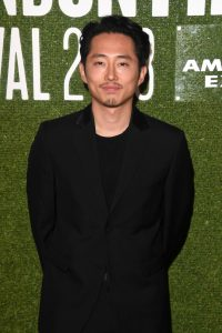 Steven Yeun attends the UK premiere of Burning during 62nd BFI London Film Festival