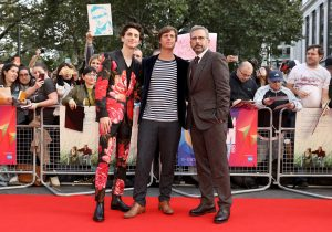 Timothée Chalamet, Felix Van Groeningen and Steve Carell Beautiful Boy UK premiere during 62nd BFI London Film Festival