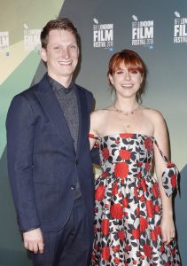 Tom Harper and Jessie Buckley Wild Rose European Premiere during 62nd BFI London Film Festival
