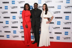 Viola Davis, Daniel Kaluuya and Michelle Rodriguez attend the European premiere of 'Widows' during the 62nd BFI London Film Festival 2018