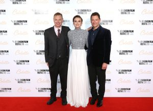 Wash Westmoreland, Keira Knightley and Dominic West attend the UK premiere of Colette during the 62nd BFI London Film Festival in London.
