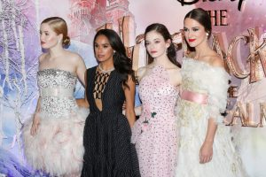 Ellie Bamber, Misty Copeland, Mackenzie Foy and Keira Knightley attend the European premiere of Disney's Nutcracker and the Four Realms held at Westfield, London.