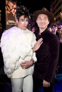 Ezra Miller and Jude Law attends the UK premiere of Fantastic Beasts: Crimes of Grindelwald in Leicester Square, London.
