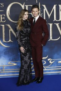 Hannah Bagshawe and Eddie Redmayne attends the UK premiere of Fantastic Beasts: Crimes of Grindelwald in Leicester Square, London.