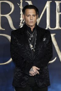 Johnny Depp attends the UK premiere of Fantastic Beasts: Crimes of Grindelwald in Leicester Square, London.