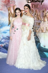 Mackenzie Foy and Keira Knightley attend the European premiere of Disney's Nutcracker and the Four Realms held at Westfield, London.