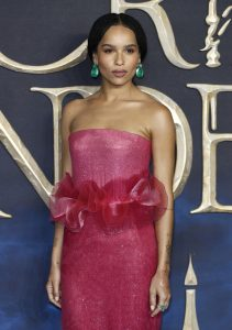 Zoe Kravitz attends the UK premiere of Fantastic Beasts: Crimes of Grindelwald in Leicester Square, London.